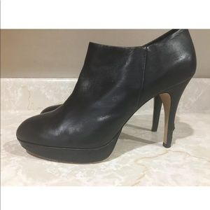 Vince Camuto Black Leather Heeled Booties